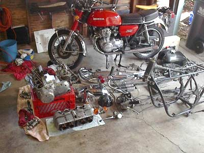 Honda 750 with crate