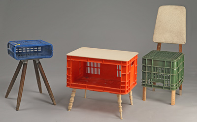 Milkcrate furniture