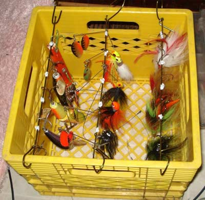 Milkcrate Lure holder