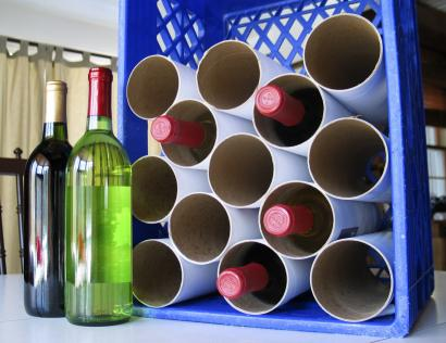 Milkcrate Wine Rack