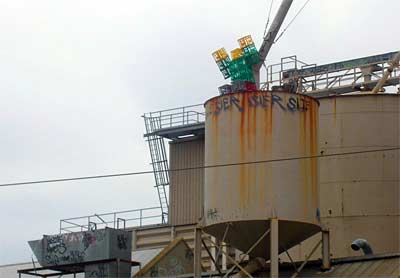 Crateman on the Water Tower