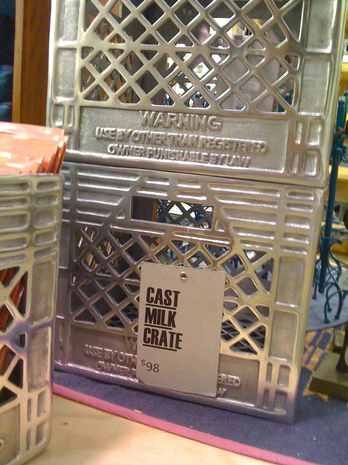 Milkcrate Digest 187 Urbn Cast Metal Crate